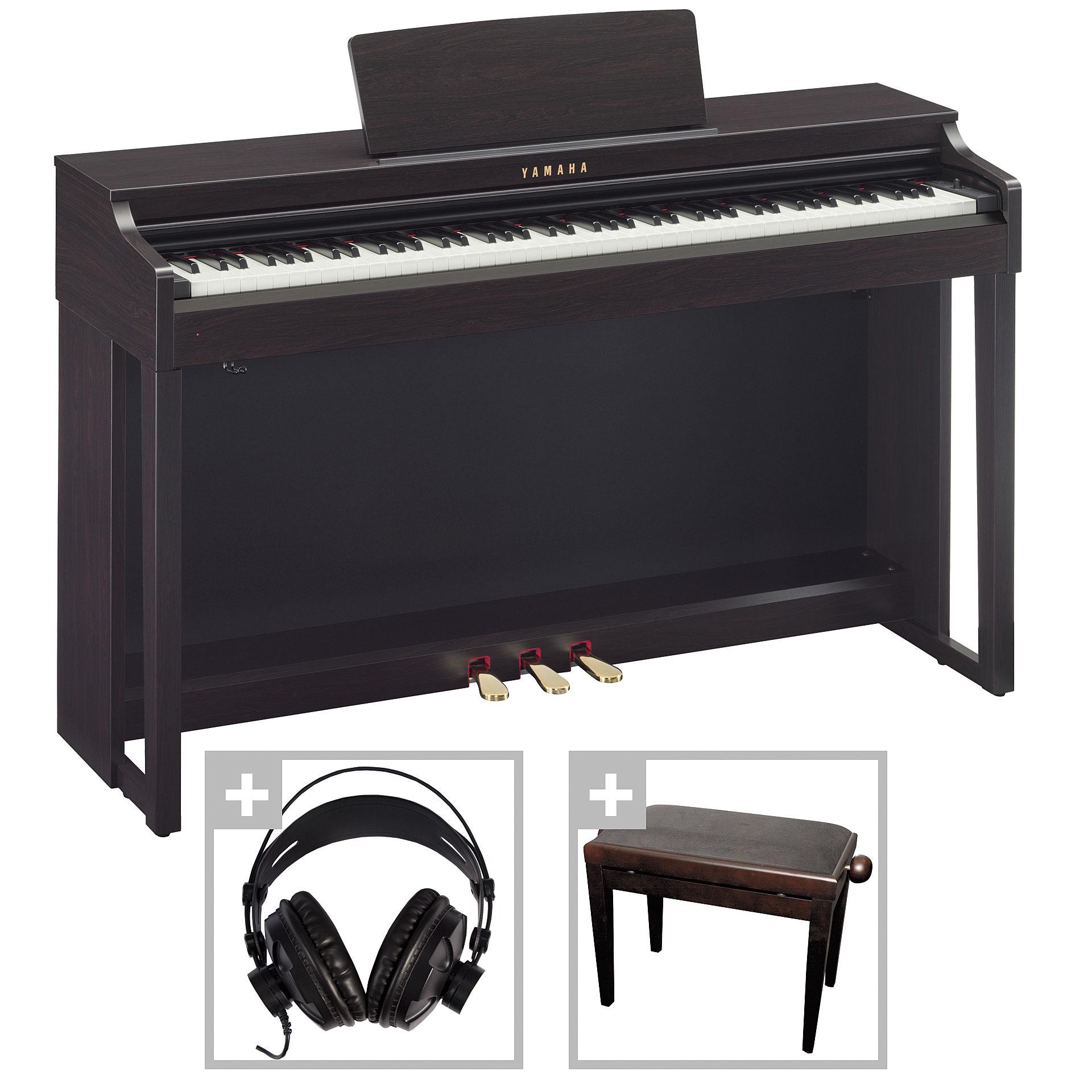 Yamaha clavinova clp 525r bundle digital piano for Yamaha digital piano clavinova