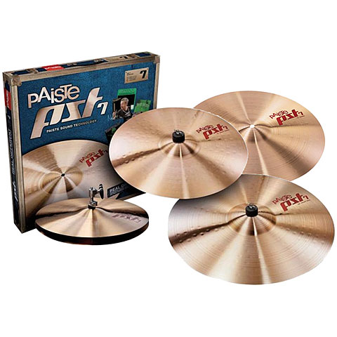 Pack de cymbales Paiste PST 7 Aktion Universal Set Medium 14HH/16C/18C/20R