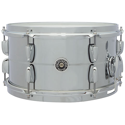 "Caisse claire Gretsch Drums USA Brooklyn 13"" x 7"" Chrome over Steel Snare"