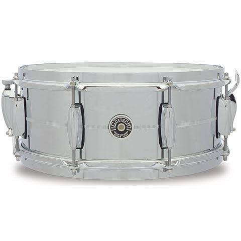 "Snare Drum Gretsch Drums USA Brooklyn 14"" x 5,5"" Chrome over Steel Snare"