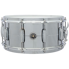 "Gretsch Drums USA Brooklyn 14"" x 6,5"" Chrome over Steel Snare « Caisse claire"
