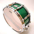 """Snare Yamaha Absolute Hybrid Maple 14"""" x 6"""" Jade Green Snare Drum Sparkle"""