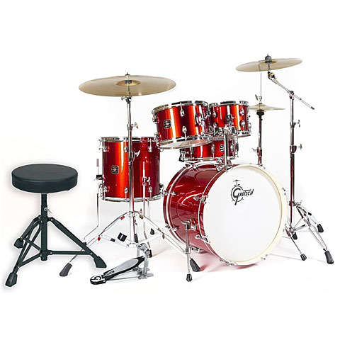 "Batería Gretsch Drums Energy 20"" Red Complete Drumset"