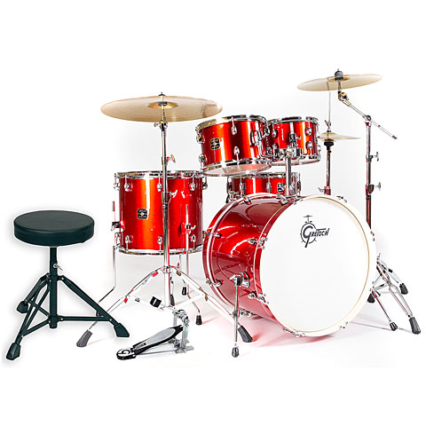 """Batería Gretsch Drums Energy 22"""" Red Complete Drumset"""