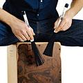 Baquetas percusión Meinl Retractable Nylon Cajon-Brush