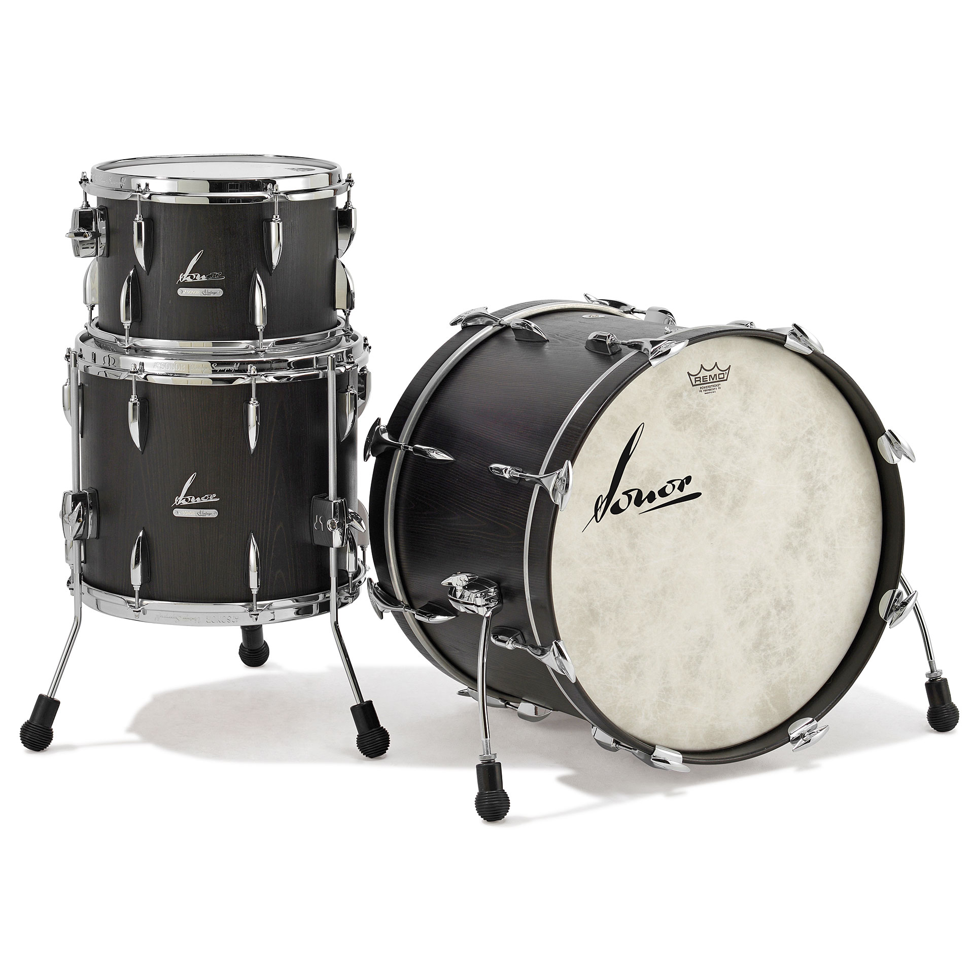 Sonor vintage series vt15 three22 vintage onyx drum kit for Classic house drums