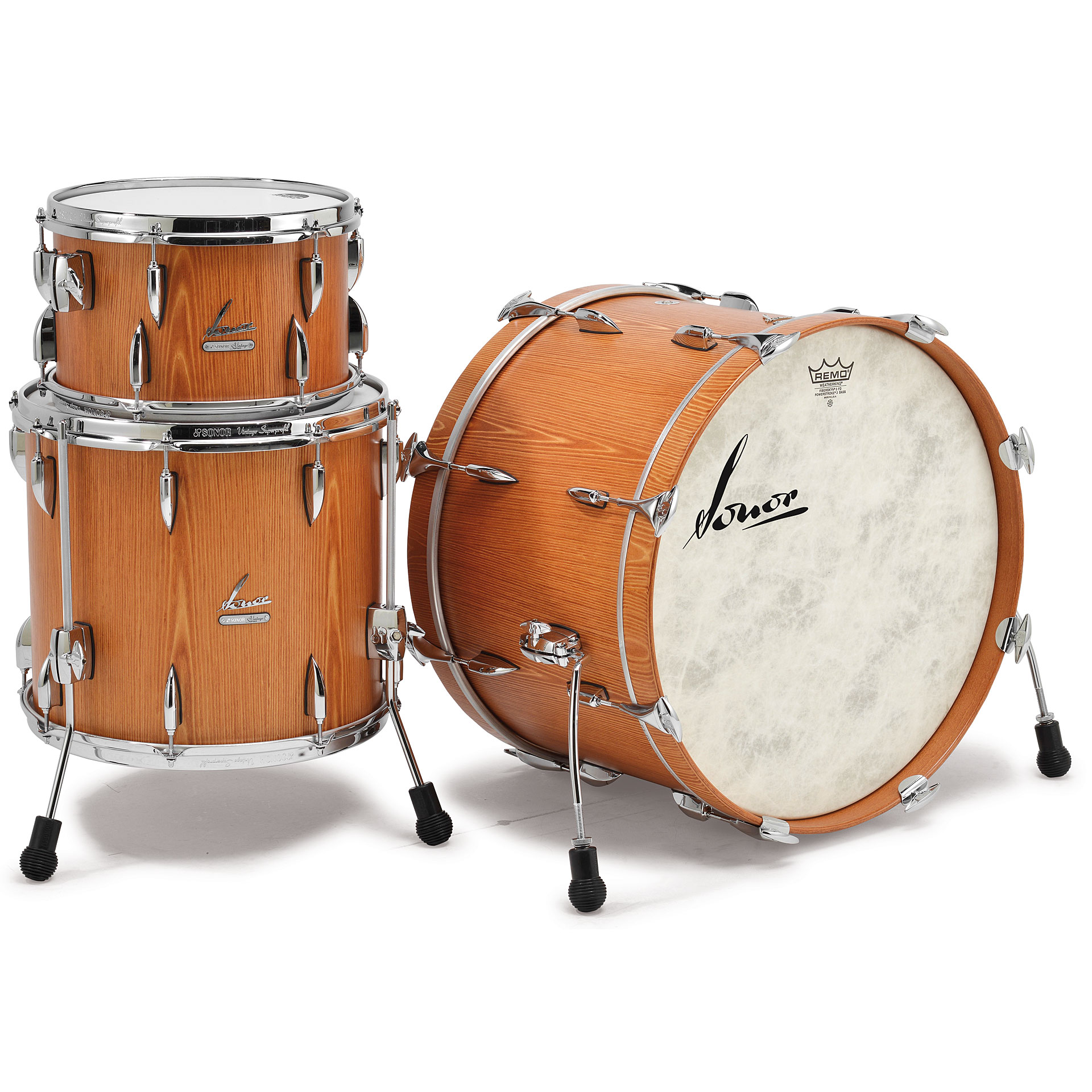 Sonor vt15 three22 vintage natural drum kit for Classic house drums