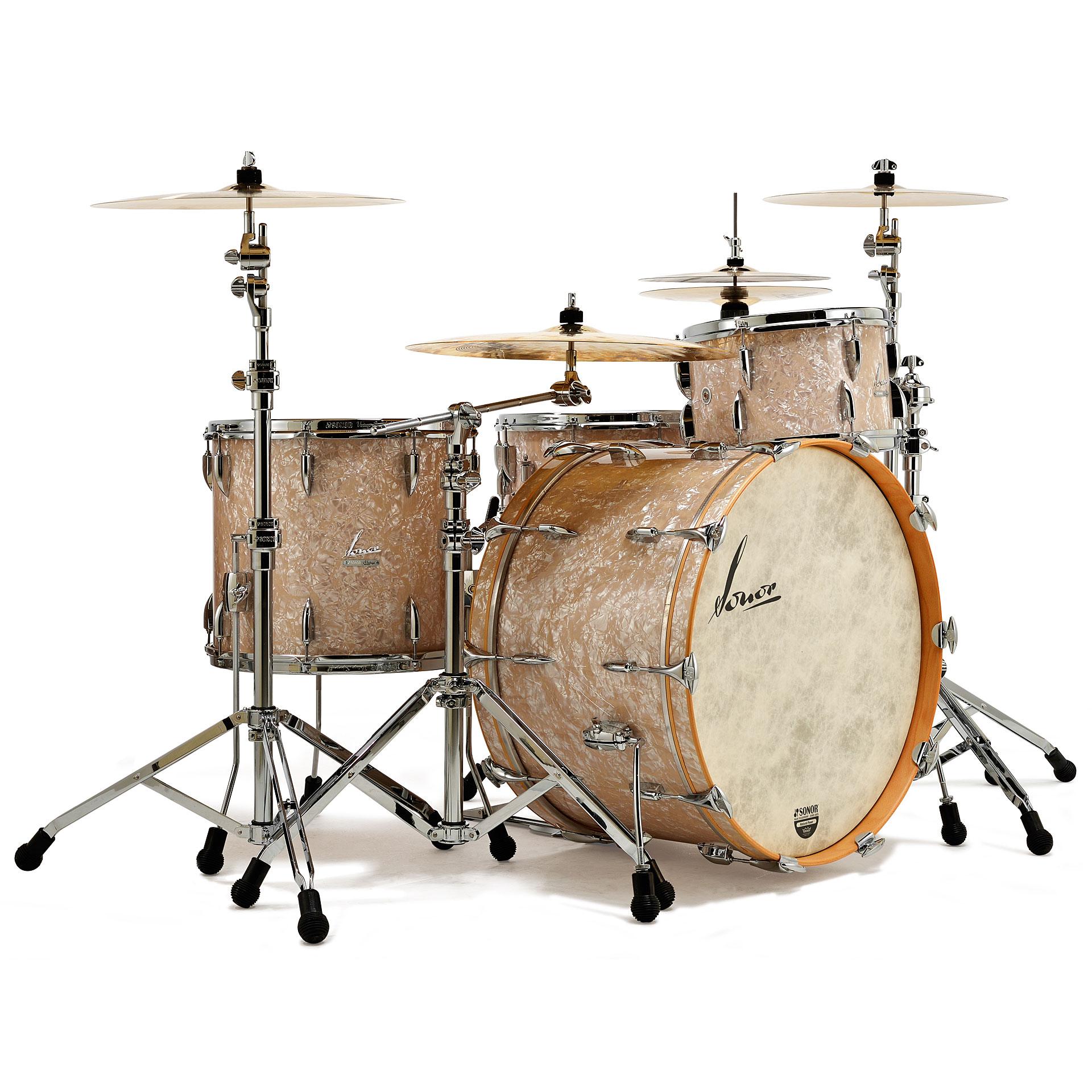 Yamaha Custom Drums With Floor Tom On Stand