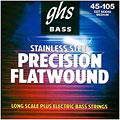 Cuerdas bajo eléctrico GHS Precision Flatwound 045-105, M3050