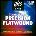 Electric Bass Strings GHS Precision Flatwound 045-105, M3050