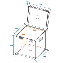 Roadinger Flight Case for Mirrorball 50 cm