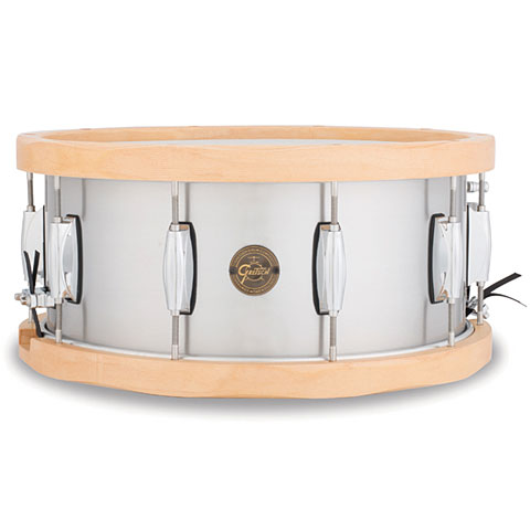 "Snare Drum Gretsch Drums Full Range 14"" x 6,5"", Aluminum / Wood Hoop Snare"