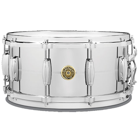 "Gretsch Drums G-4000 USA 14"" x 6,5"" Chrome over Brass"