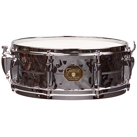 Snare Drum Gretsch Drums G-4000 G-4160-HB Hammered Chrome over Brass