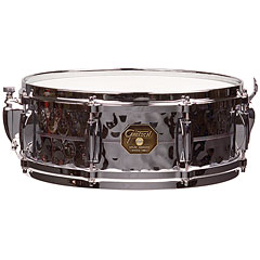 Gretsch Drums G-4000 G-4160-HB Hammered Chrome over Brass « Caisse claire
