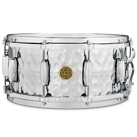 Caja Gretsch Drums G-4000 USA Custom G4164HB Hammered Chrome over Brass