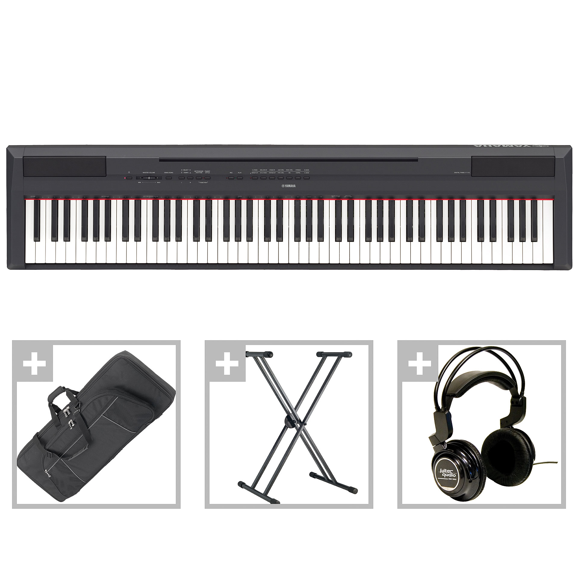 yamaha p 115 b bundle ii stage piano. Black Bedroom Furniture Sets. Home Design Ideas