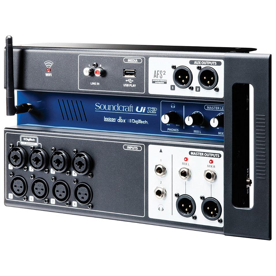 Soundcraft ui12 console de mixage num rique - Console de mixage numerique ...