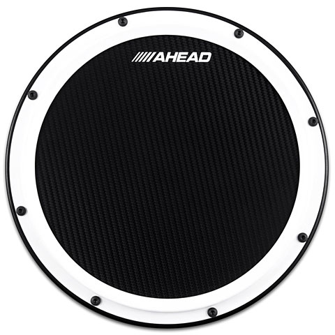 "AHead 14"" S-Hoop Marching Practice Pad White / Black"
