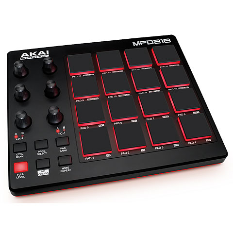Controlador MIDI Akai MPD218