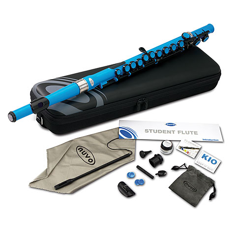 Nuvo Student Flute Electric Blue