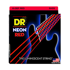DR Neon Red Medium « Corde basse électrique