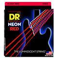 Struny do elektrycznej gitary basowej DR Neon Red Medium