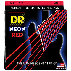 DR Neon Red Medium 6 « Corde basse électrique