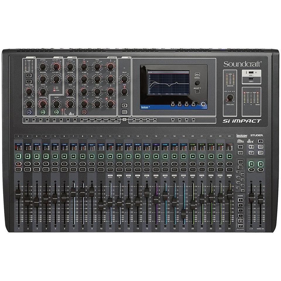 Soundcraft si impact console de mixage num rique - Console de mixage numerique ...
