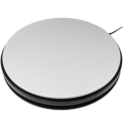 Decoración Europalms Rotary Plate 45 cm up to 50 kg silver