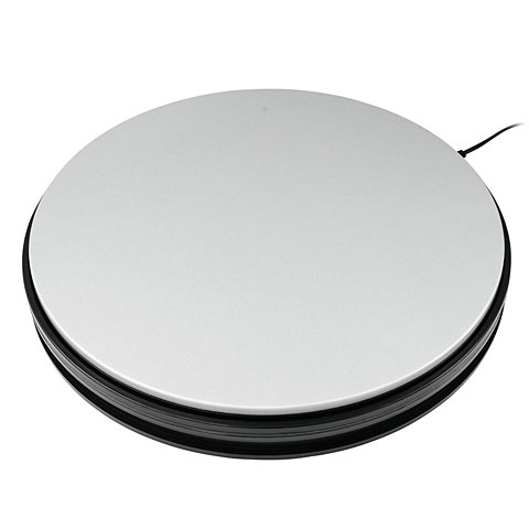 Décoration Europalms Rotary Plate 25 cm up to 25 kg silver