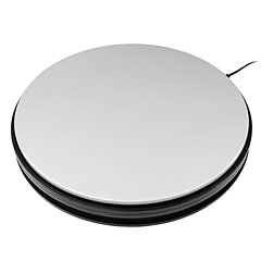 Europalms Rotary Plate 25 cm up to 25 kg silver « Decoración