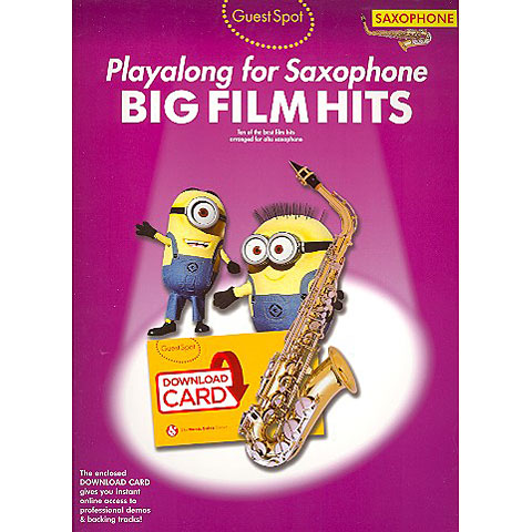 Music Sales Big Film Hits - Playalong for Saxophone