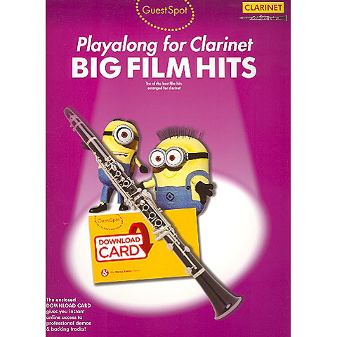 Music Sales Big Film Hits - Playalong for Clarinet