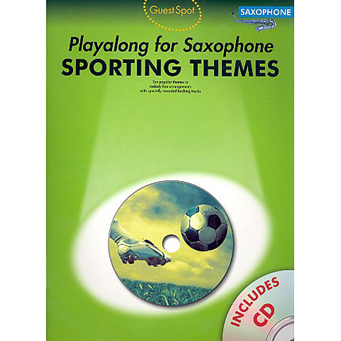 Play-Along Music Sales Sporting Themes - Playalong for Saxophone