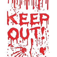 Europalms Halloween Dekofolie Keep Out! « Decoración