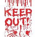 Deko Europalms Halloween Dekofolie Keep Out!