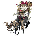 Décoration Europalms Christmas Sleigh with Reindeer, 75cm