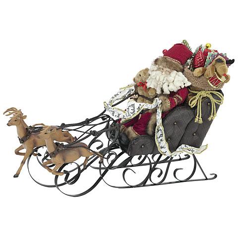 Europalms Christmas sleigh, with reindeer, 75 cm