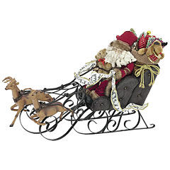 Europalms Christmas Sleigh with Reindeer, 75cm