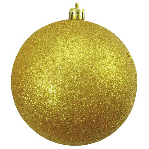 Deko Europalms Deco Ball 10 cm, gold, glitter 4x