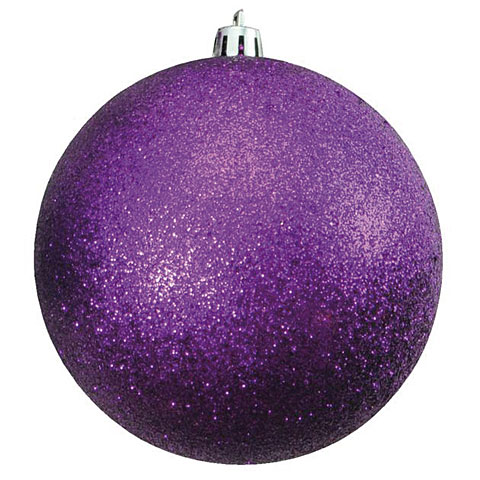 Europalms Deco Ball 10 cm, purple, glitter