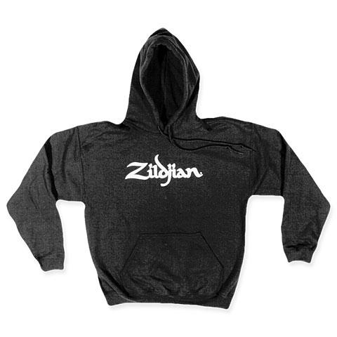 Zildjian Classic T7101 Black Hoodie White Logo S
