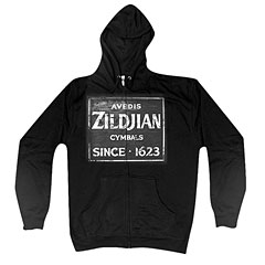 Zildjian Quincy Vintage Sign T4644 Zip Hoodie XL « Hood