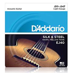 D'Addario EJ40 .011-047 « Western & Resonator Guitar Strings