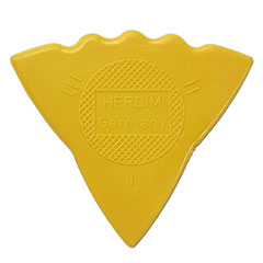Herdim 3-Gauge Pick Yellow Nylon (12 pcs) « Plectrum