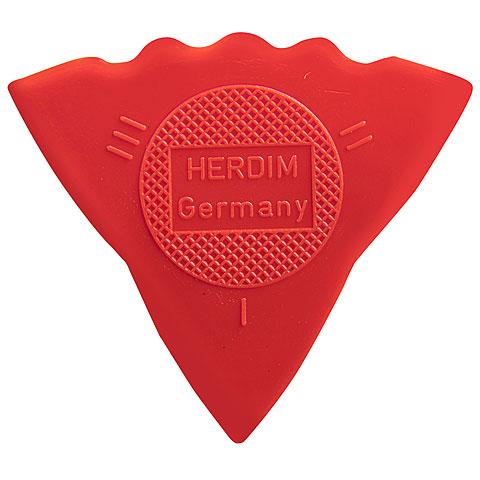 Plektrum Herdim 3-Gauge Pick Red Nylon (12 pcs)