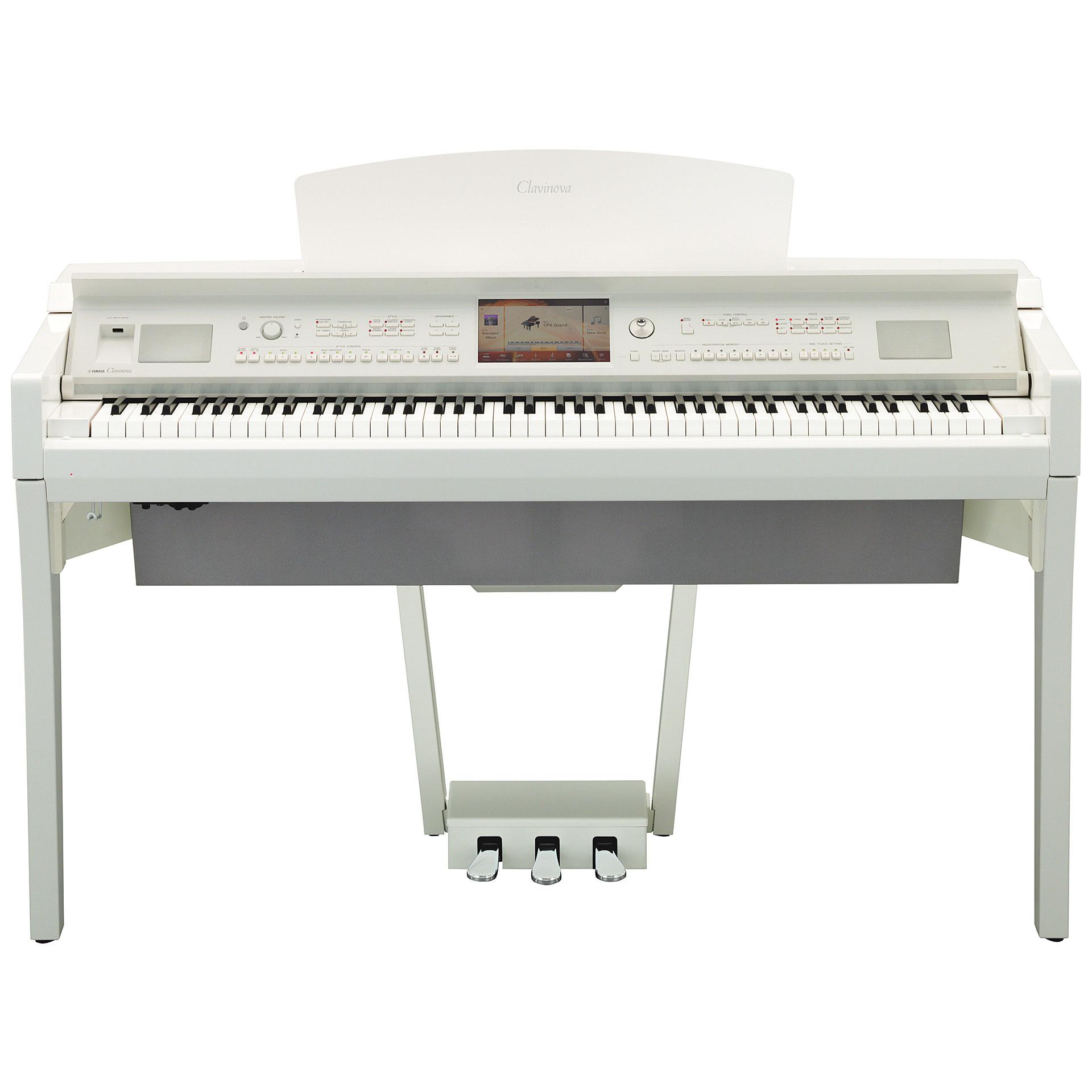 yamaha clavinova cvp 709 pwh digital piano. Black Bedroom Furniture Sets. Home Design Ideas