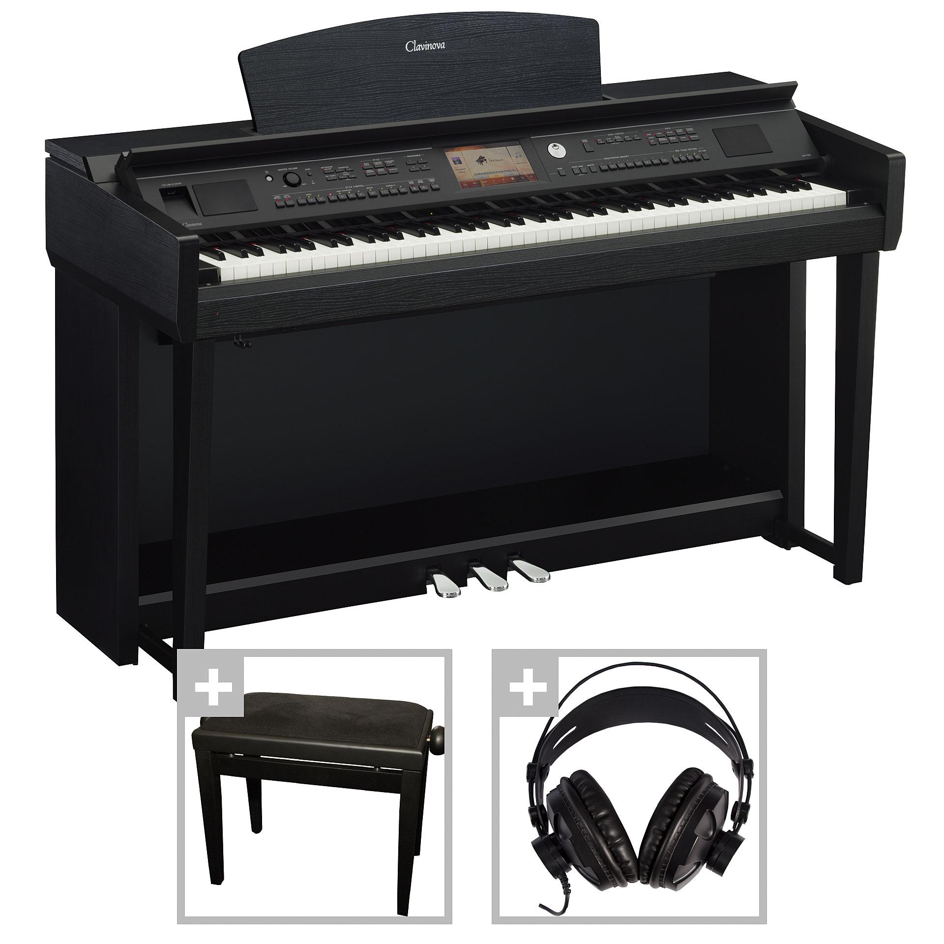 yamaha clavinova cvp 705 b set i digital piano. Black Bedroom Furniture Sets. Home Design Ideas