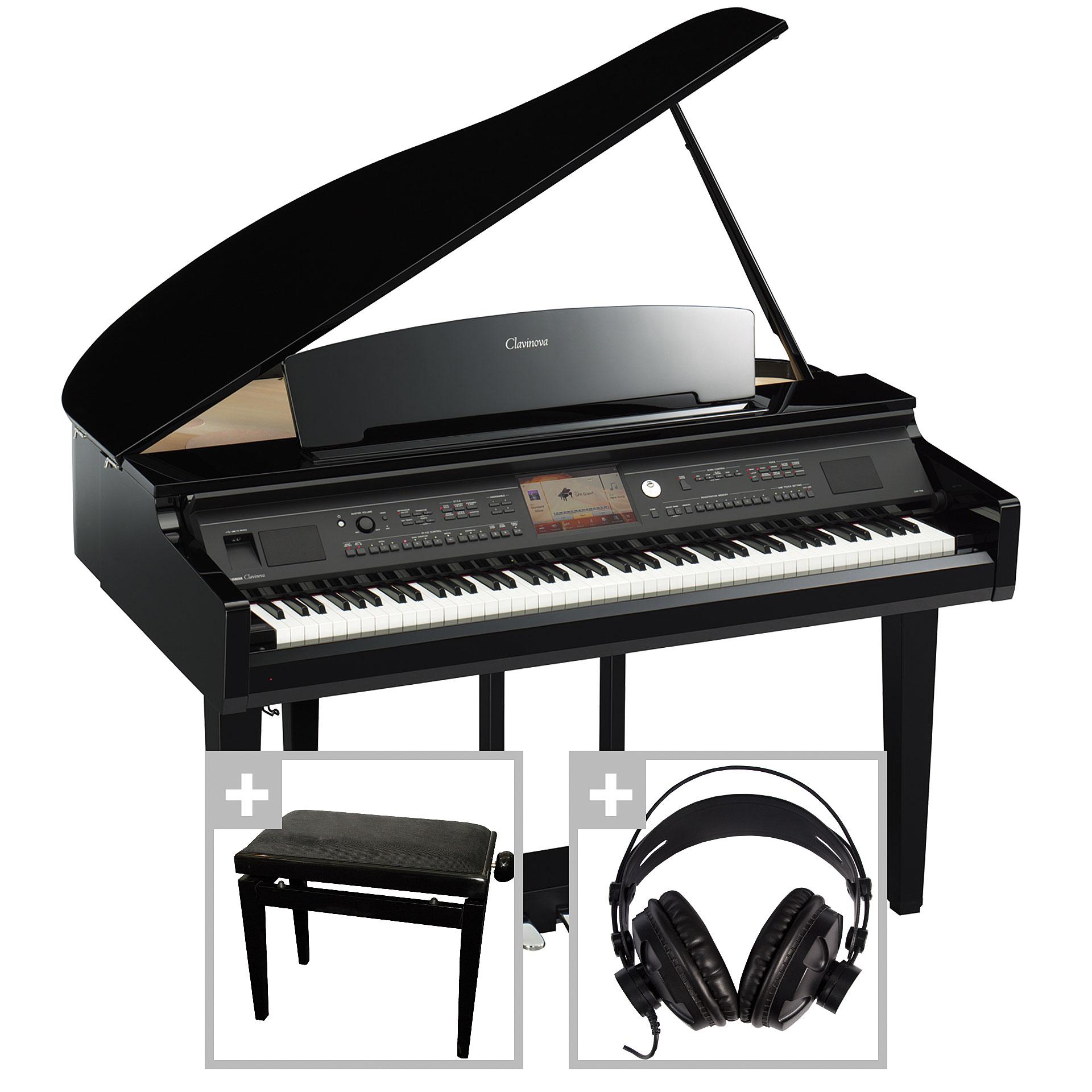 yamaha clavinova cvp 709 gp fl gel set i digital piano